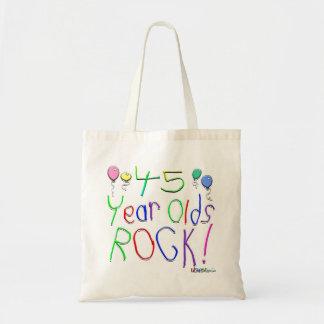 ¡45 años de la roca! bolsa tela barata