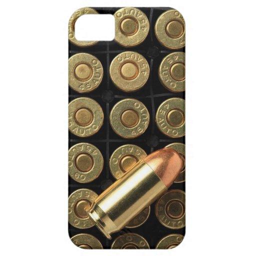 45 balas de la munición del calibre iPhone 5 Case-Mate coberturas