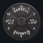 "45 Barbell Clock<br><div class=""desc"">45 Barbell Clock made to decorate that empty wall in your home gym.</div>"