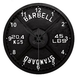 45 Barbell Clock