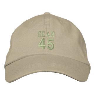 45 Birthday Custom Name OLIVE GREEN Embroidery V2J Embroidered Baseball Cap