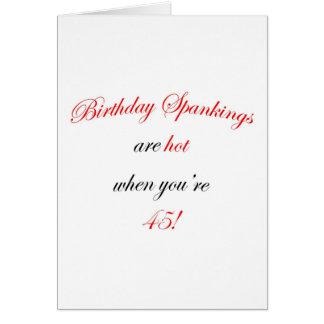 45 Birthday Spankings Card