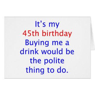 45 buy me a drink card