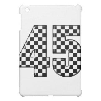 45 checkered number iPad mini covers