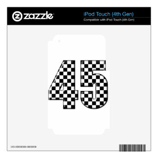45 checkered number decal for iPod touch 4G
