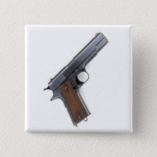 .45 Colt pistol Button