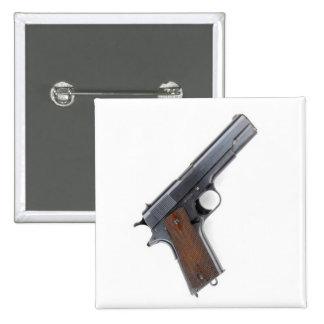 .45 Colt pistol Button