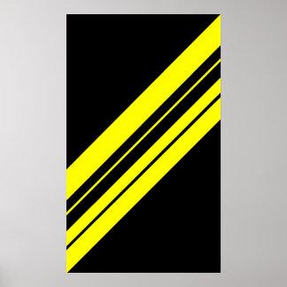 45 Degree Yellow Minimalist art Poster