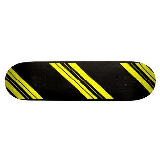 45 Degree Yellow Minimalist art Skateboard Deck