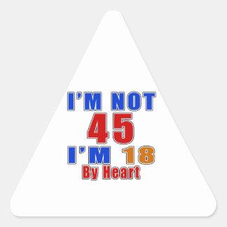 45 diseños del cumpleaños de la leyenda del pegatina triangular