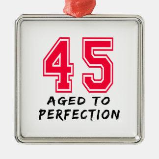45 envejeció al diseño del cumpleaños de la perfec ornaments para arbol de navidad