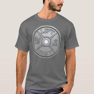 45 LBS Barbell Plate - LIFT HEAVY T-Shirt