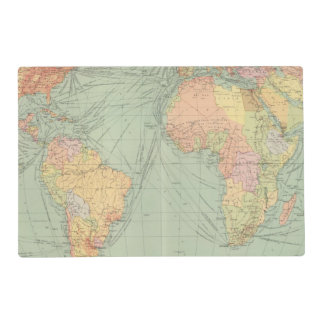 45 lines of communication, Atlantic Ocean Placemat