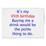 45 me compran una bebida tarjeton