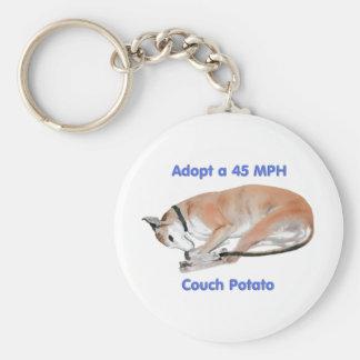 45 mph Couch Potato Basic Round Button Keychain