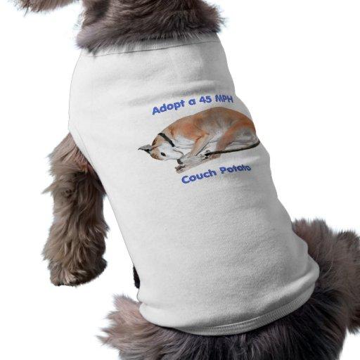 45 mph Couch Potato Doggie Tshirt
