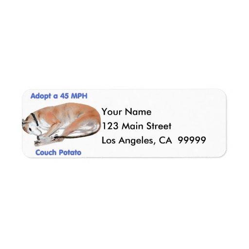 45 mph Couch Potato Return Address Labels