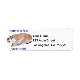 45 mph Couch Potato Label