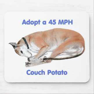 45 mph Couch Potato Mouse Pad