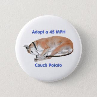 45 mph Couch Potato Pinback Button