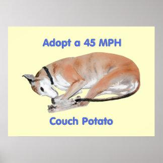 45 mph Couch Potato Print
