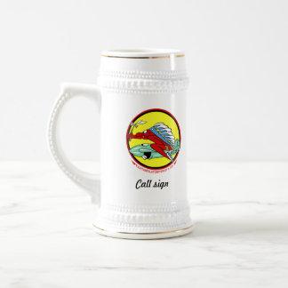 45 muestra de encargo de Stein w/call de la cervez Tazas De Café
