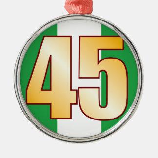 45 NIGERIA Gold Metal Ornament