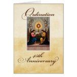 45.o Ángeles del aniversario de la ordenación en e Tarjeton