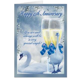 45.o aniversario - aniversario del zafiro tarjetas