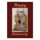 45.o Aniversario con los pájaros del amor Tarjetón
