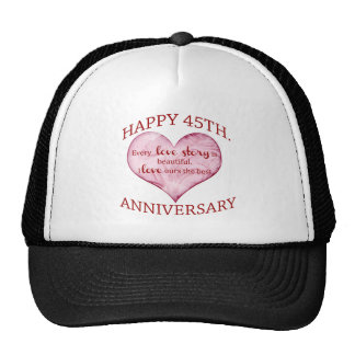 45.o. Aniversario Gorros Bordados