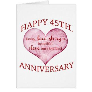 45.o. Aniversario Tarjeta De Felicitación