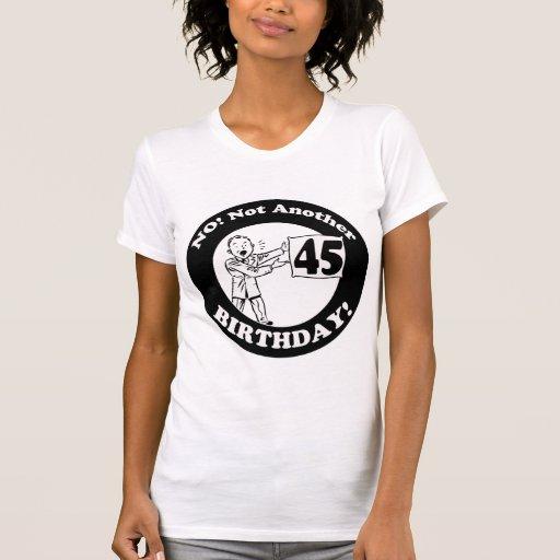 45.o Camisetas y regalos del cumpleaños