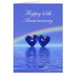 45.o Corazones del zafiro del aniversario (altos) Felicitaciones