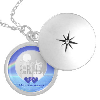 45.o Corazones del zafiro del aniversario (marco Medallón