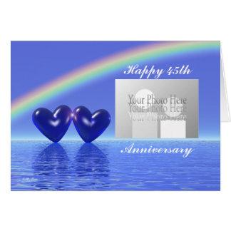45.o Corazones del zafiro del aniversario (para la Tarjeta De Felicitación