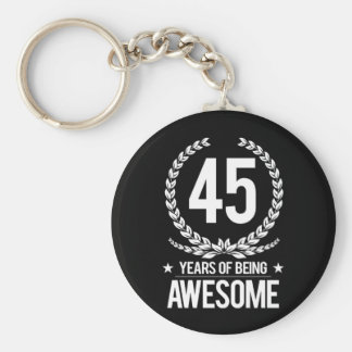 45.o Cumpleaños (45 años de ser impresionantes) Llavero Redondo Tipo Pin