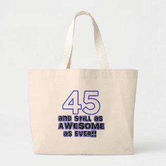 45.o diseño del cumpleaños bolsa tela grande