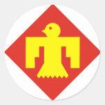 45.o División de infantería Pegatina Redonda