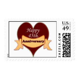 45.o feliz. Aniversario Timbre Postal