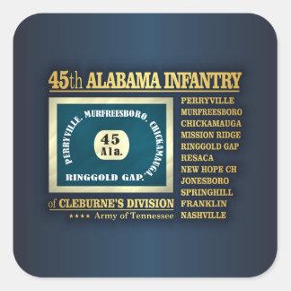 45.o Infantería de Alabama (BA2) Pegatina Cuadrada