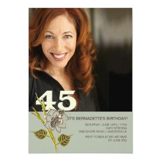 45.o Invitación de la foto del cumpleaños