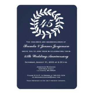 45.o Invitación del aniversario de boda del zafiro