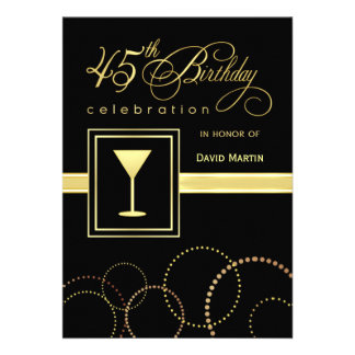 45 o Invitaciones de la fiesta de cumpleaños - con