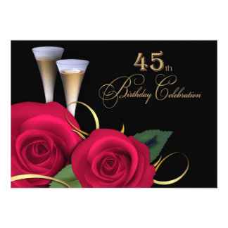 45 o Invitaciones del personalizado de la celebrac