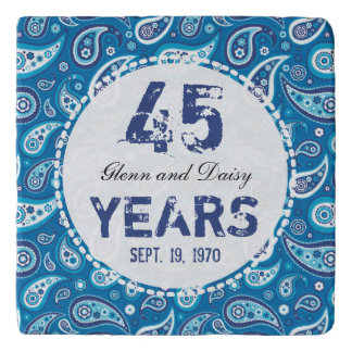 45.o Modelo de Paisley del aniversario de boda del Salvamanteles
