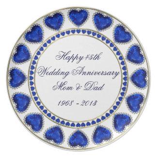 45.o Placa del aniversario de boda Platos