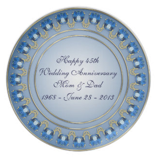 45.o Placa del aniversario de boda Platos De Comidas
