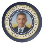 45.o presidente conmemorativo Barack Obama Plato De Cena