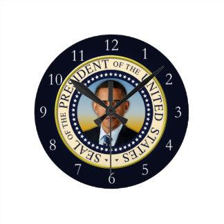 45.o presidente conmemorativo Barack Obama Reloj Redondo Mediano